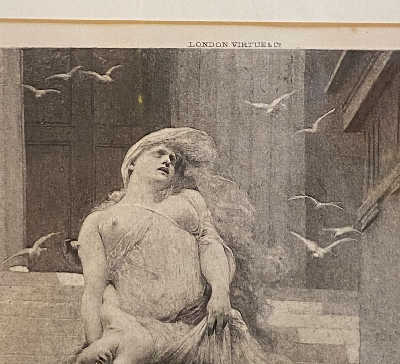 """Solomon Joseph Solomon RA RBA 1860-1927 """"Niobe"""" engraving - Image 4 of 4"""