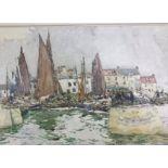 Robert McGowan Coventry 1855-1914 RW, ARSA Watercolour Mussel Boats, St Monans Fife