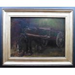 Oil painting of a Horse and cart by William Grant Stevenson(1849-1919)