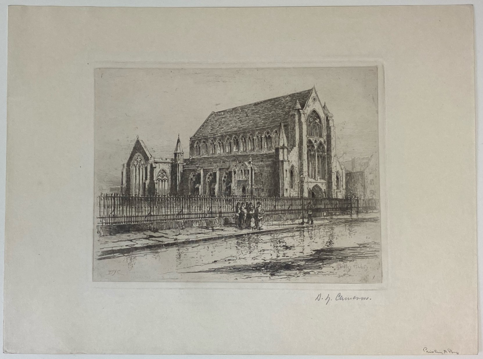 """David Young Cameron signed etching """"Paisley Abbey"""" - Image 2 of 5"""