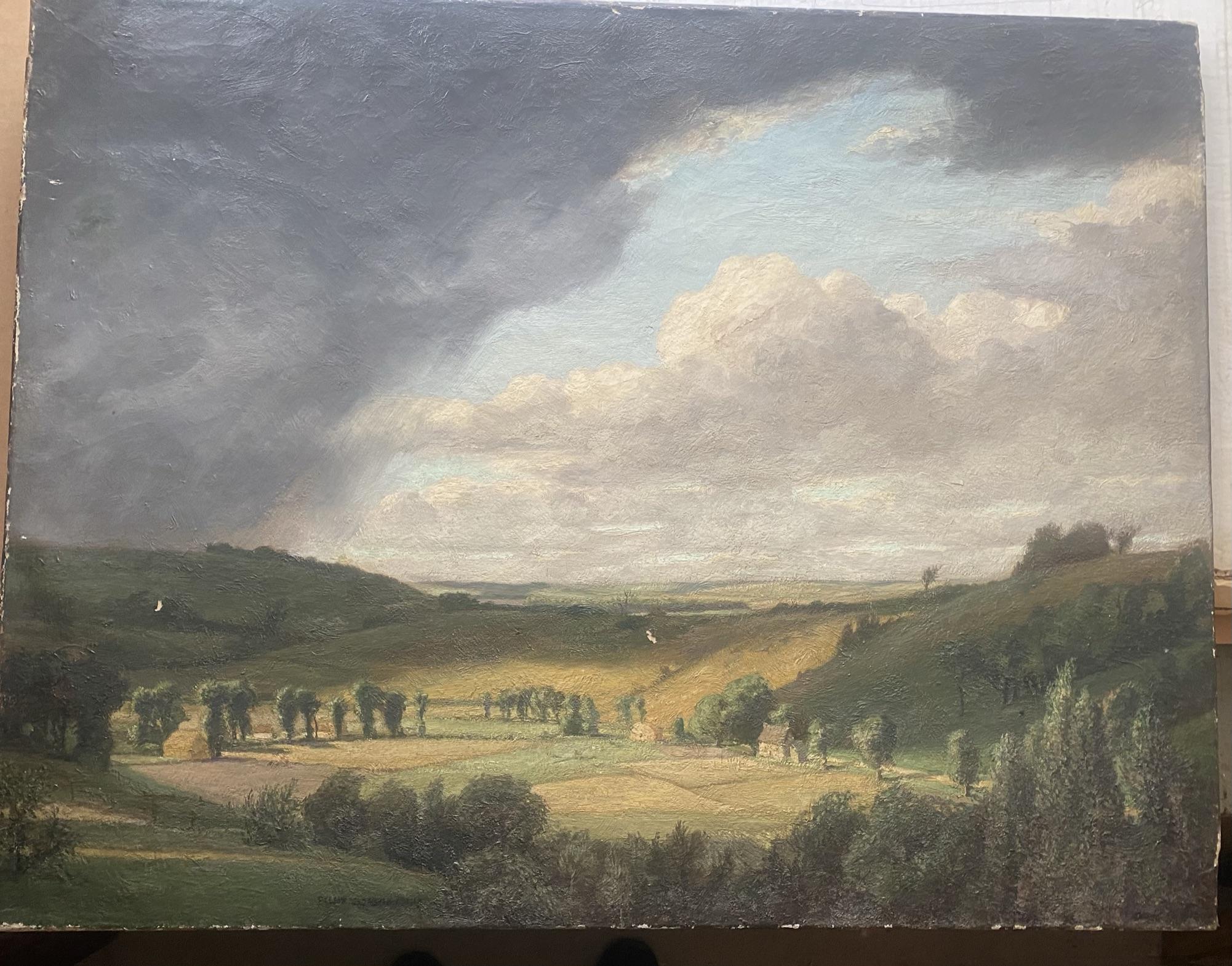 Elliot Seabroke 1886-1950 large signed original oil English Valley - Image 6 of 6