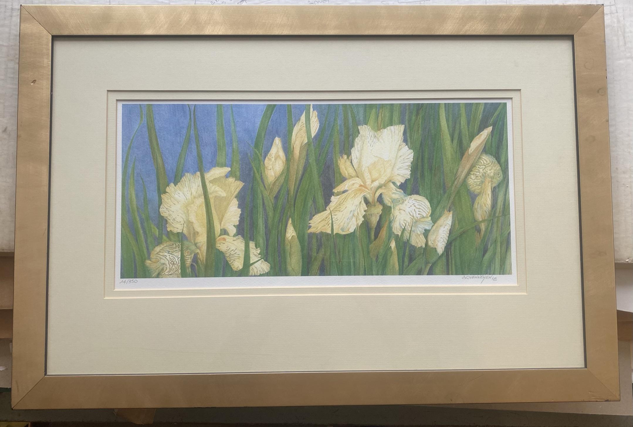 Brigitte Quennehen floral art print Discus - Image 2 of 4