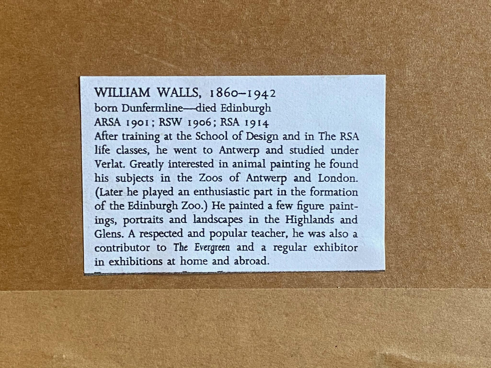 Signed watercolour Galway by Artist William Walls, 1860-1942, Exhibited – R.S.A, R.A, R.S.W - Image 4 of 4