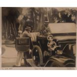 """Natasha Pearl limited edition silver line print 2/10 """"fathers new toy"""""""