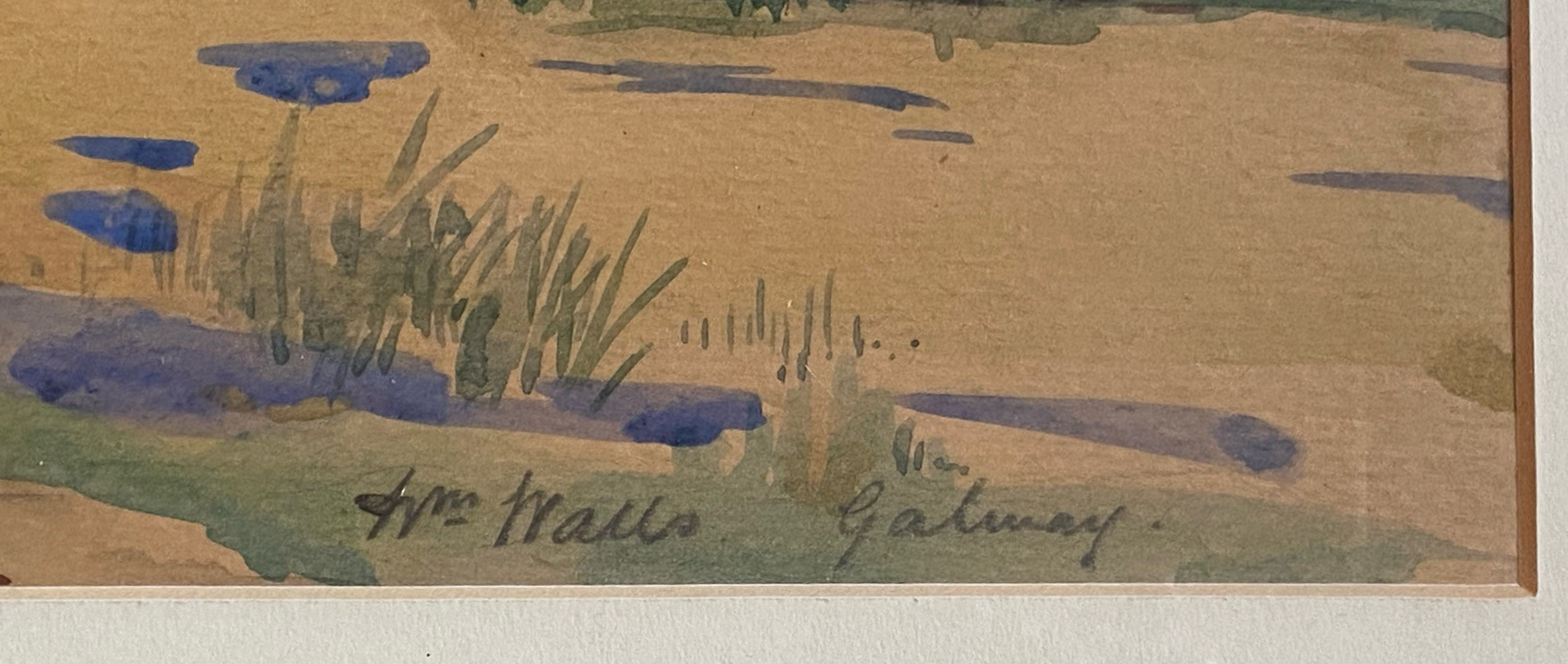 Signed watercolour Galway by Artist William Walls, 1860-1942, Exhibited – R.S.A, R.A, R.S.W - Image 2 of 4