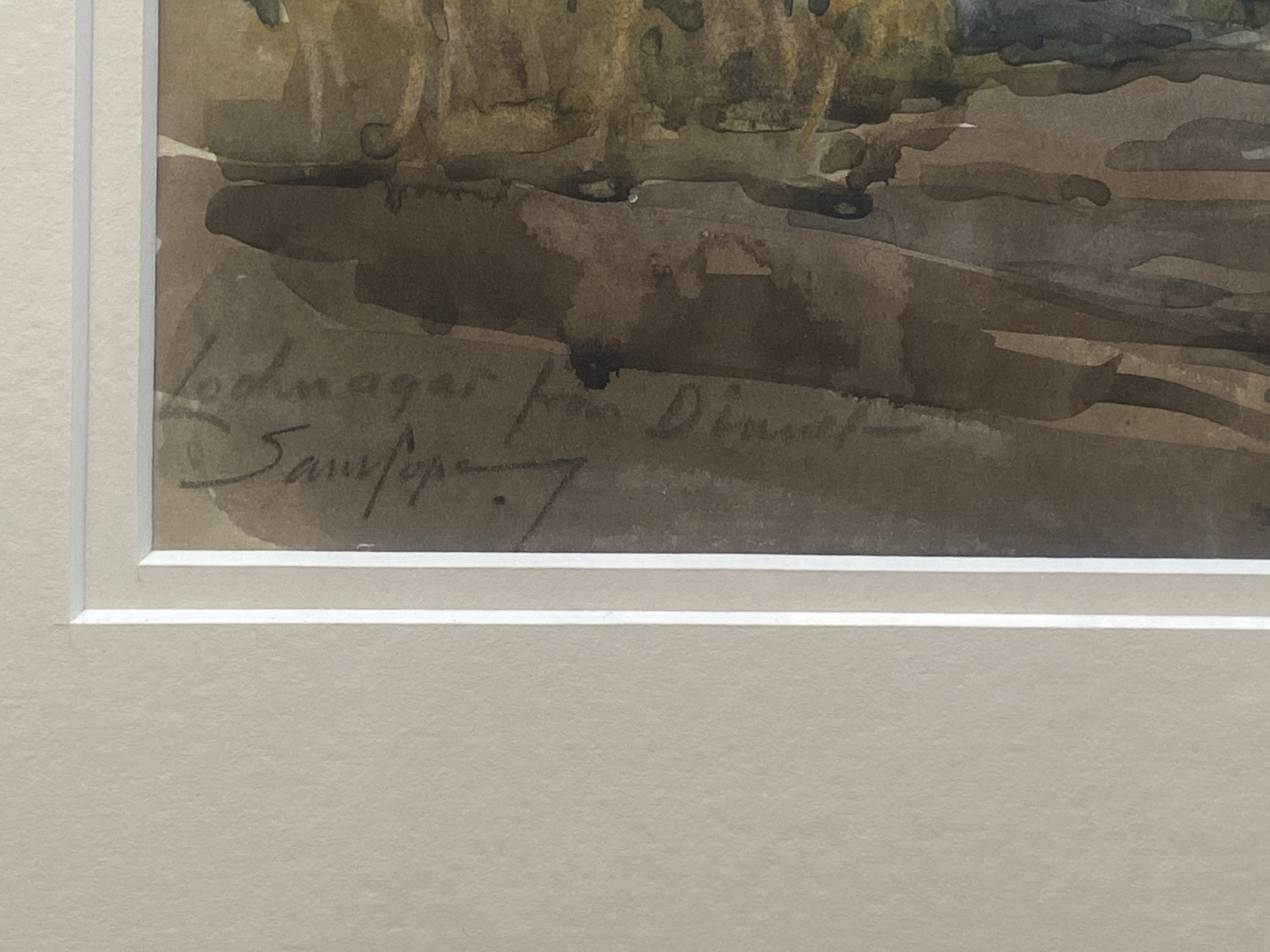 """Samuel Pope (British, active 1896-1940) signed watercolour """"Loch Na'Gar"""" - Image 3 of 3"""