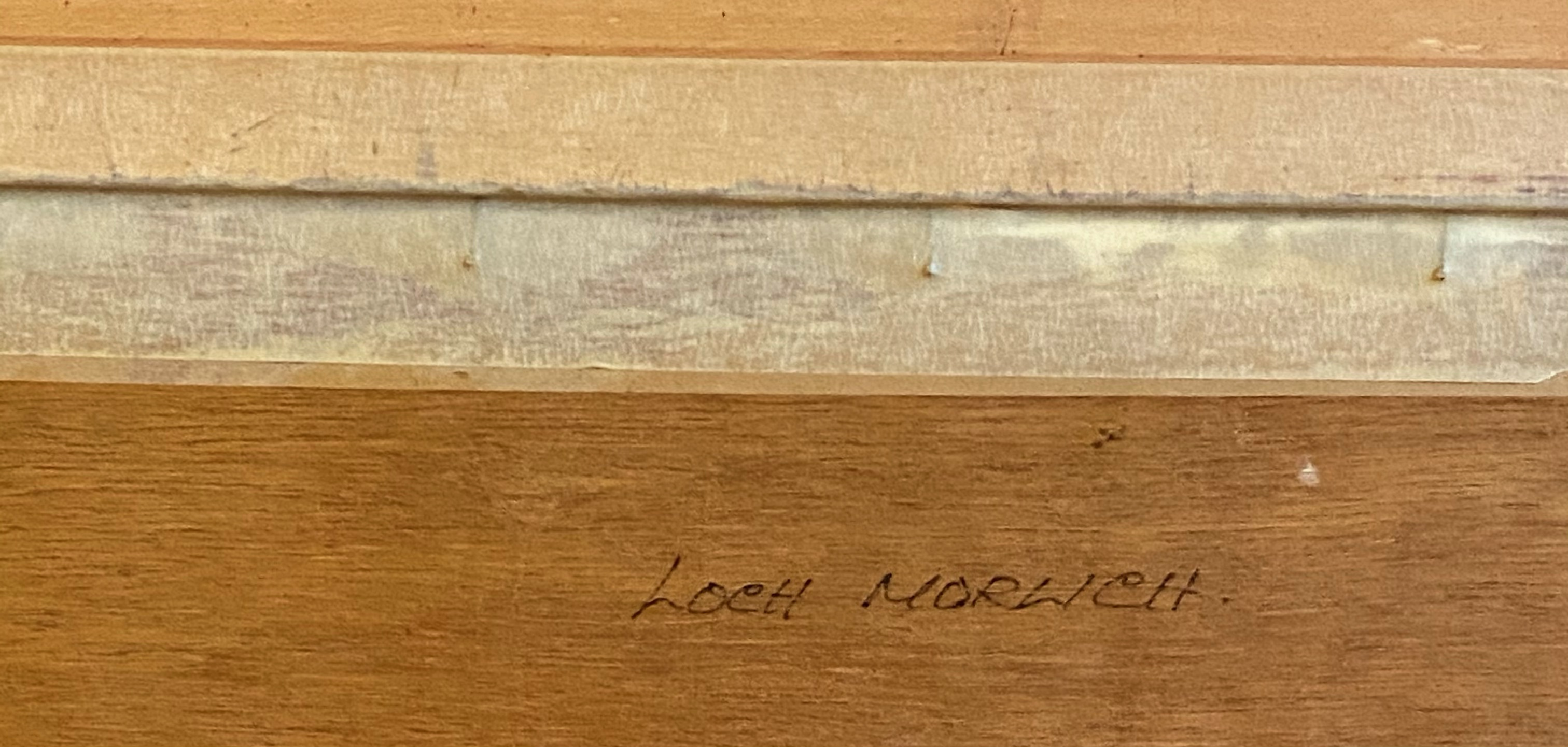 "Donald M Shearer (Scottish) Original signed oil Scottish View ""Loch Morlich"" Donald - Image 3 of 5"