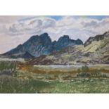 Blaven, Torrin Isle of Skye pastel by Scottish artist Mary Nicol Neill Armour LLD, R.S.A., R.S.W