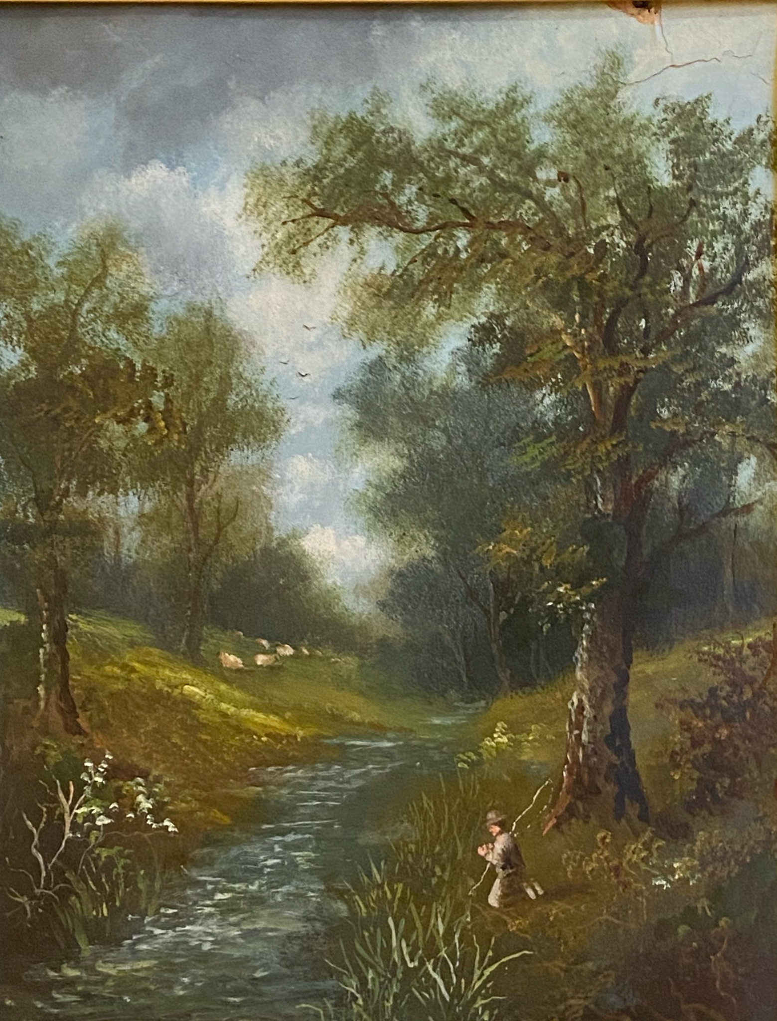 T Sayer signed oil painting For restoration