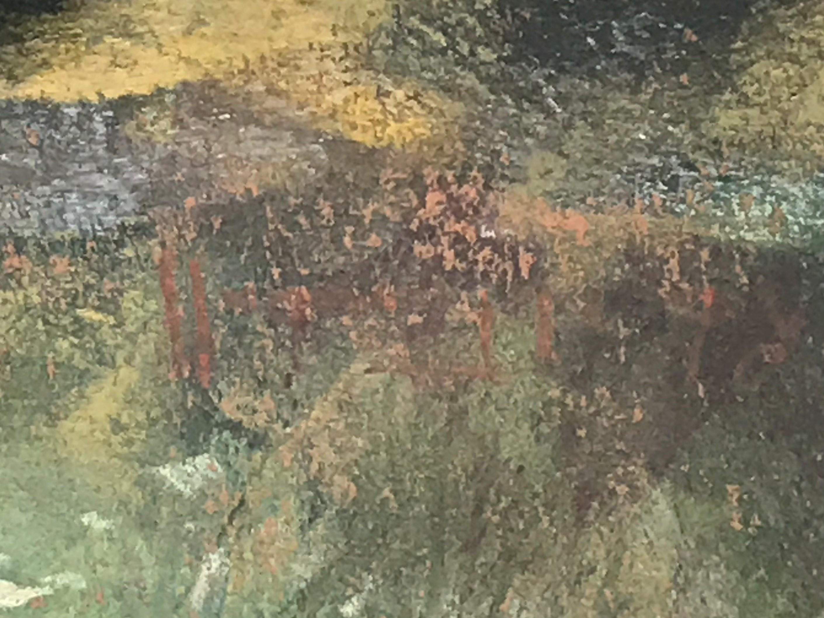 Forrest Stream in Dappled Sun pastel by Scottish artist Robert Turnbull 20th C - Image 4 of 4