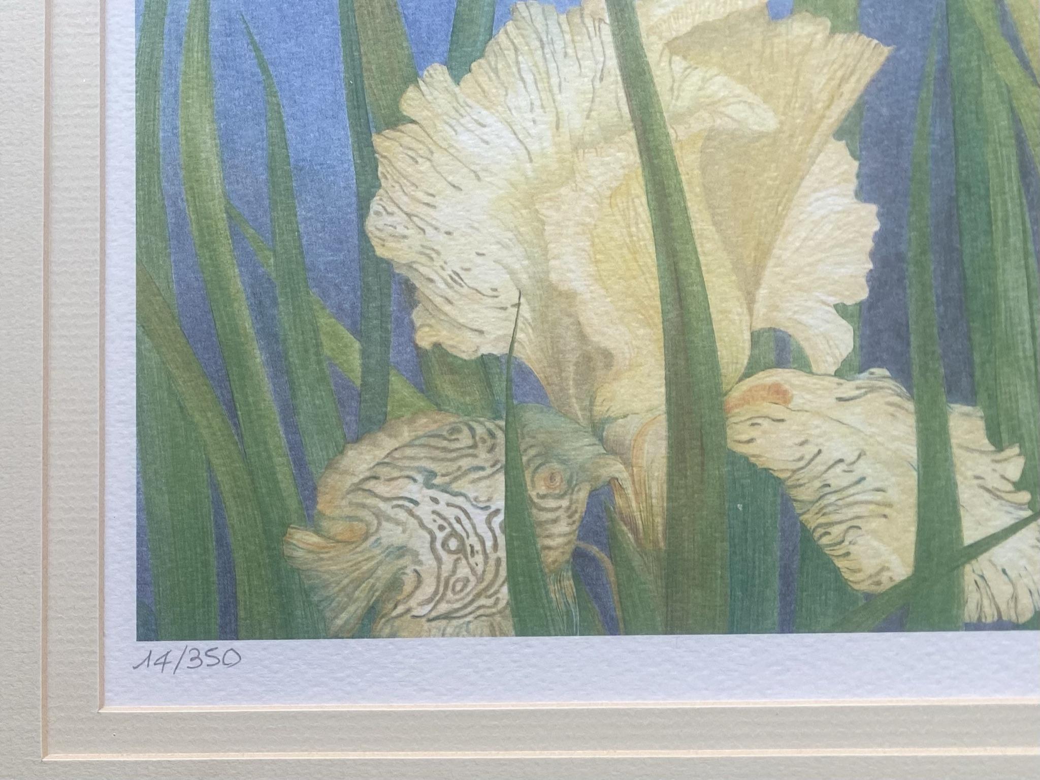 Brigitte Quennehen floral art print Discus - Image 3 of 4