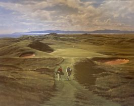 Royal Troon 8th golfing print signed A/P by Scottish artist Peter Munro