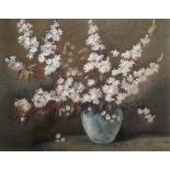 """James Grey Signed watercolour still life """"blossom in a vase"""""""