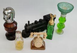 Vintage 6 x Avon Perfume Bottles Various Themes