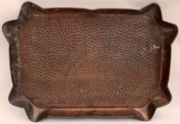 Antique Arts & Crafts Style Copper Tray
