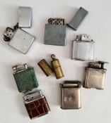 Vintage Collection of 8 Assorted Collectable Lighters