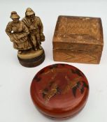 Vintage Japanes Box Wooden Figures etc.