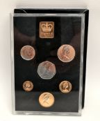 Vintage Royal Mint Proof Set of UK Decimal Coinage c1971 in Original Cover
