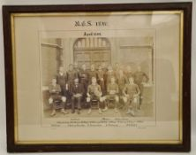 Antique BCS Rugby 1st IV Rugby Photograph Picture 1899