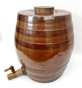 Vintage Retro Stoneware Water Barrel