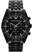 Emporio Armani AR5989 Men's Tazio Black Stainless Steel Bracelet Chronograph Watch
