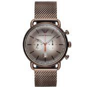 Emporio Armani AR11169 Men's Brown Mesh Band Chronograph watch