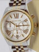 Michael Kors MK5955 Lexington Chronograph Two Tone Ladies Watch