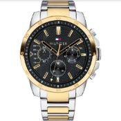Tommy Hilfiger 1791559 Decker Watch Click on the image to enlarge it Tow-tone & Black Gents Quartz