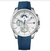 Tommy Hilfiger 1791349 Decker Blue Silicone Strap Quartz Chronograph Watch
