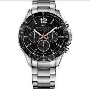 Tommy Hilfiger 1791104 Men's Luke Silver Strap Quartz Chronograph Watch