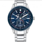 TOMMY HILFIGER Austin Mens Steel Blue Dial Watch 1791640