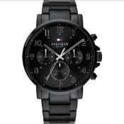 Tommy Hilfiger Multi-function Black Steel Men's Watch - 1710383