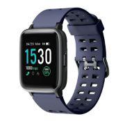 Brand New Unisex Fitness Tracker Watch ID205 Blue/Grey Strap