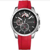 Tommy Hilfiger Men's Red Silicone Strap Decker Watch 1791351
