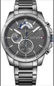 Tommy Hilfiger 1791347 Men's Decker Bracelet Watch In Gunmetal Grey