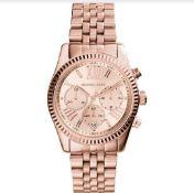 MICHAEL KORS MK5569 Ladies Rose Gold Lexington Quartz Watch