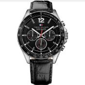 Men's Tommy Hilfiger Multi-Function Leather Strap Watch 1791117