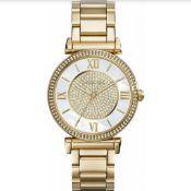 MICHAEL KORS MK3332 Ladies Gold Tone Catlin Quartz Watch