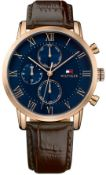 Tommy Hilfiger 1791399 Kane Rose Gold Tone Chronograph Men's Watch