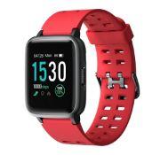 Brand New Unisex Fitness Tracker Watch ID205 Red Strap