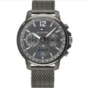 Tommy Hilfiger Men's Multi dial Quartz Watch with Stainless Steel Strap 1791530