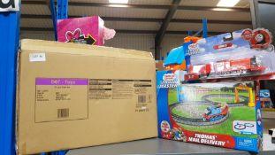(R3F) Toys. 3 Items. 1 X Wooden Train Set, 1 X Thomas & Friends Track Master James (New). & 1 X