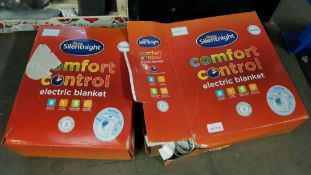 (R2B) 2 X Silentnight Comfort Control Electric Blanket Double