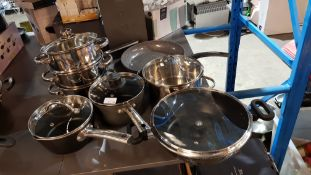(R1F) Kitchen. 6 X Mixed Cookware. To Include 2 Tier Steamer, Scoville Pro Saucepan, Tower Frying