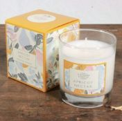 5 X The Country Candle Company Apricot Nectar Glass Candle In Gift Box