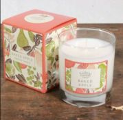 3 X The Country Candle Company Baked Apple Glass Candle In Gift Box