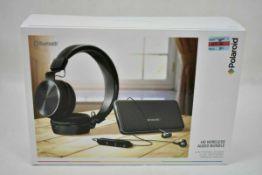 Polaroid Hd Wireless Audio Bundle Portable Speaker Hi Def Headphones & Earbuds Black Rrp £85