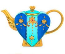 2 X Artvigor Heart Shape Ceramic Coffeepots Hand Painted Multicolor Teapot