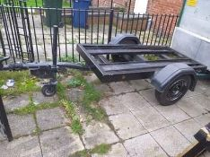 Water bowser or motorbike trailer 6ft by 4ft heavy duty