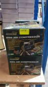 (R6I) Car. 7 X Brookstone Mini Air Compressor (New)